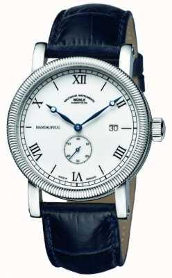Muhle Glashutte Teutonia iii handaufzug kleine sekunde bracelet en cuir cadran blanc M1-08-11-LB