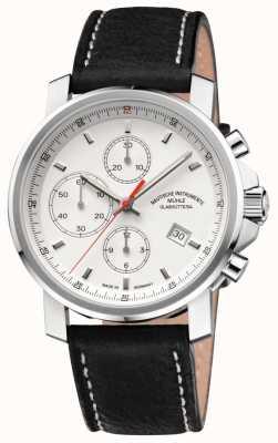Muhle Glashutte 29er bracelet en cuir chronographe cadran blanc M1-25-41-LB