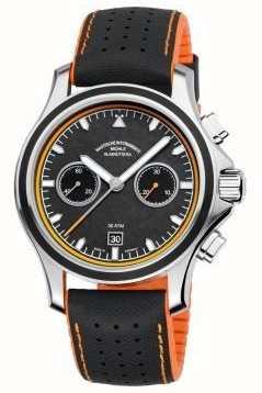 Muhle Glashutte Cadran carbone Promare chronographe à bande synthétique M1-42-04-NB