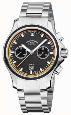 Muhle Glashutte chronographe cadran Promare bande de carbone en acier inoxydable M1-42-04-MB
