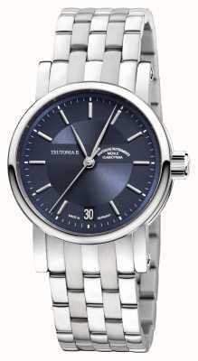 Muhle Glashutte Teutonia II moyen bracelet en acier inoxydable cadran bleu nuit M1-30-22-MB