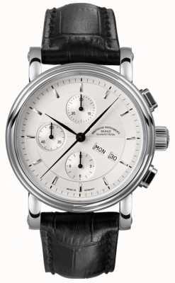 Muhle Glashutte Teutonia ii chronographe bande en cuir cadran argenté M1-30-95-LB