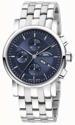 Muhle Glashutte Teutonia II chronographe bracelet en acier inoxydable cadran bleu nuit M1-30-92-MB