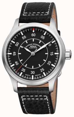 Muhle Glashutte Terrasport I Observateur Bracelet en cuir Cadran noir M1-37-34/4-LB