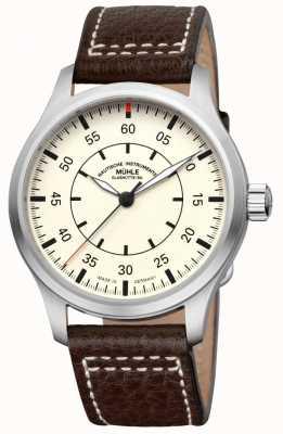 Muhle Glashutte Terrasport i cadran crème de bracelet en cuir d'observateur M1-37-37/4-LB
