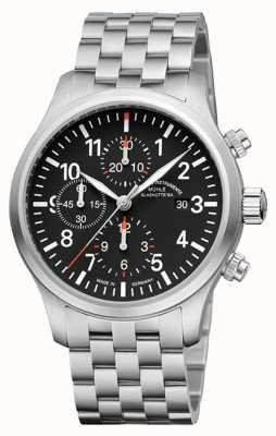 Muhle Glashutte Terrasport i chronographe bracelet en acier inoxydable cadran noir M1-37-74-MB