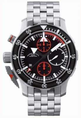 Muhle Glashutte Sar flieger-chronographe bracelet en acier inoxydable cadran noir M1-41-33-MB