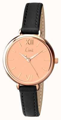 Limit Bracelet noir femme cadran rose 6074.01