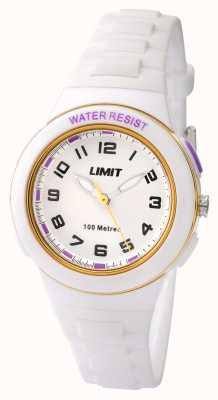 Limit Enfants dragonne blanche résine cadran blanc 5590.24