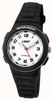 Limit Enfants résine bracelet noir cadran blanc 5591.24
