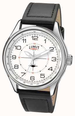 Limit Mens pilote bracelet noir cadran blanc 5616.01