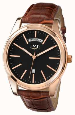 Limit Mens bracelet brun cadran noir 5484.01