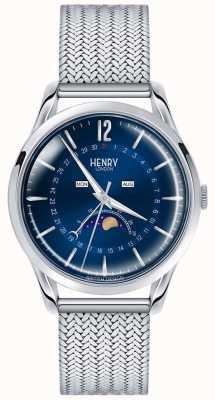 Henry London Hommes en phase lunaire en acier inoxydable HL39-LM-0085