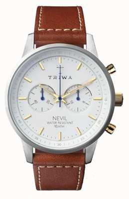 Triwa Bracelet en cuir marron noir pour homme NEST115-SC010215