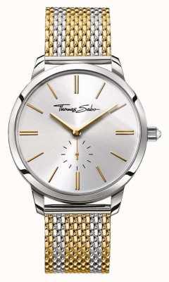 Thomas Sabo Womans glam esprit deux tons cadran bracelet en acier d'argent WA0272-282-201-33