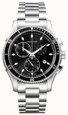 Hamilton Mens jazzmaster seaview cadran de chronographe noir H37512131