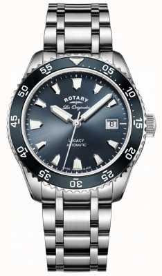 Rotary Bracelet bleu en acier inoxydable pour homme GB90168/05