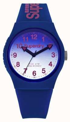 Superdry laser urbain unisexe bracelet en caoutchouc bleu SYG198UU