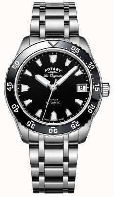 Rotary Womens héritage océan bracelet automatique en acier inoxydable LB90168/04