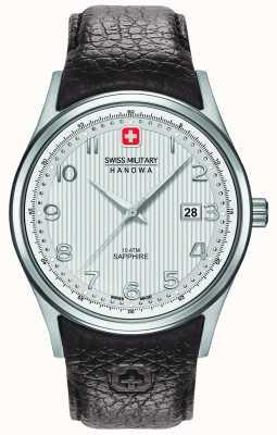Swiss Military Hanowa cuir brun cadran bracelet en argent de Mens 6-4286.04.001