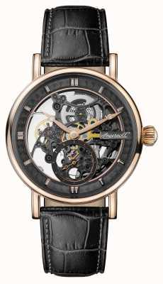 Ingersoll Mens 1892 le bracelet en cuir noir automatique Herald I00403