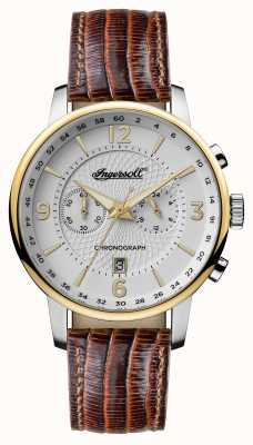 Ingersoll Hommes 1892 le bracelet grafton en cuir marron blanc I00602