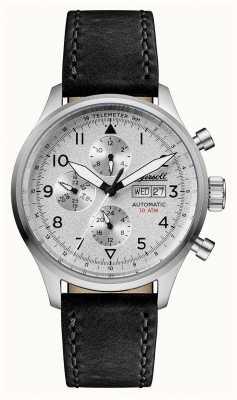 Ingersoll Découverte pour hommes le bateman bracelet en cuir noir cadran argenté I01901