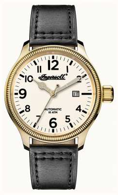 Ingersoll Découverte des hommes le bracelet en cuir gris apsley cadran blanc I02702