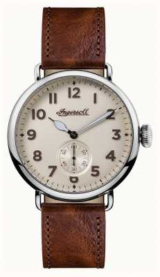 Ingersoll Les hommes chroniquent le cadran en cuir brun trenton en cuir I03301