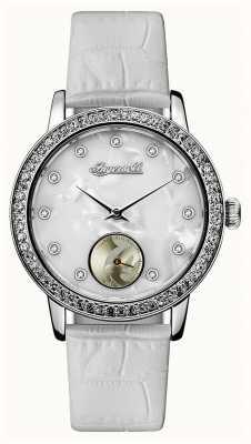 Disney By Ingersoll Womens union le bracelet en cuir blanc de Disney ID00701