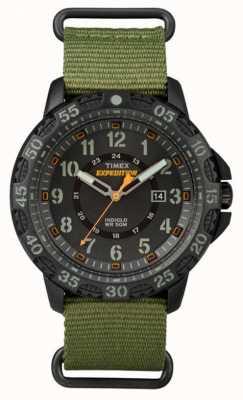 Timex Bracelet en tissu vert gallatin masculin cadran noir TW4B03600