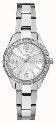 Timex Womans miami mini-argent bracelet en acier inoxydable cadran argenté TW2P79800