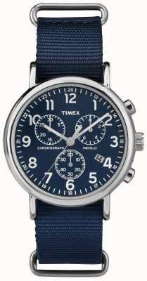 Timex Chronographe unisexe chronographe bleu marine TW2P71300