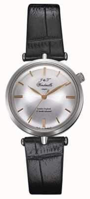 J&T Windmills Womans Threadneedle mécanique montre en argent en or rose WLS10001/06