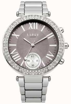 Lipsy Womens cadran gris bracelet en acier inoxydable LP453
