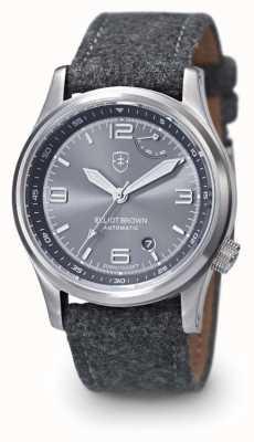 Elliot Brown cadran gris gris stap de Mens 305-002-F01