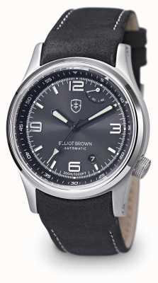Elliot Brown de Mens bracelet en cuir noir cadran noir 305-005-L15