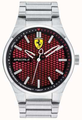 Scuderia Ferrari Bracelet en acier inoxydable spécial pour hommes cadran rouge 0830357