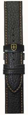 Elliot Brown Bracelet en coton noir 22mm noir en caoutchouc déployant STR-L11