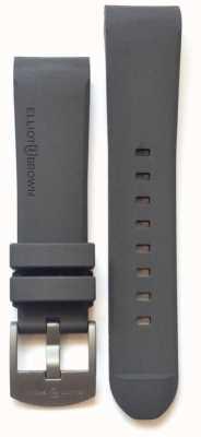 Elliot Brown Boucle ardillon en acier gris caoutchouc 22 mm pour homme STR-R02