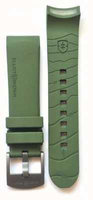 Elliot Brown Bracelet à boucle en caoutchouc en caoutchouc vert homme 22mm seulement STR-R04
