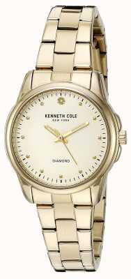 Kenneth Cole Cadran en argent en acier inoxydable KC10026480