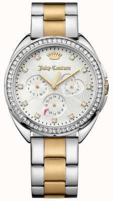 Juicy Couture Womens capri deux tons cadran en acier inoxydable bracelet en argent 1901481