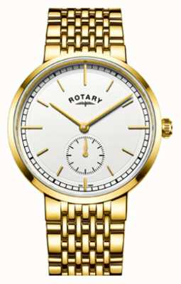 Rotary Cadran blanc en acier inoxydable ton canterbury pour homme GB05062/02