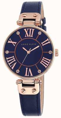 Anne Klein Bracelet cuir bleu femme cadran bleu 10/N9918RGNV