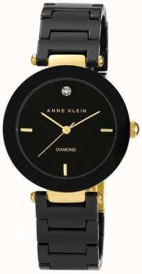 Anne Klein Bracelet en céramique noire pour femme cadran noir AK/N1018BKBK