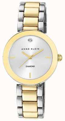 Anne Klein Bracelet à deux tons en cuir pour femme AK/N1363SVTT