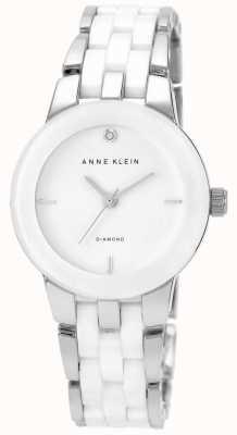 Anne Klein Bracelet en céramique blanche pour femme cadran blanc AK/N1611WTSV