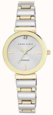 Anne Klein Femmes bracelet à deux tons cadran argenté AK/N2435SVTT
