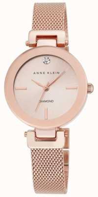 Anne Klein Cadran doré rose rose pour femme AK/N2472RGRG